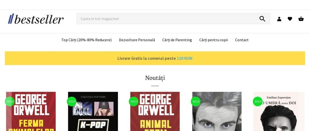 Screenshot of www.bestseller.ro