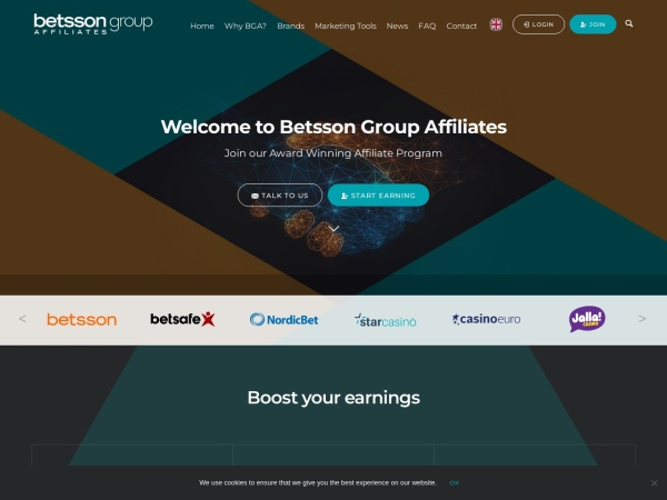 Screenshot of www.betssongroupaffiliates.com
