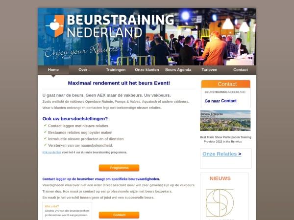 Screenshot of www.beurstrainingnederland.nl