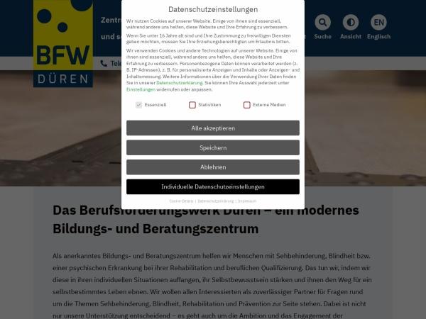 Screenshot von www.bfw-dueren.de