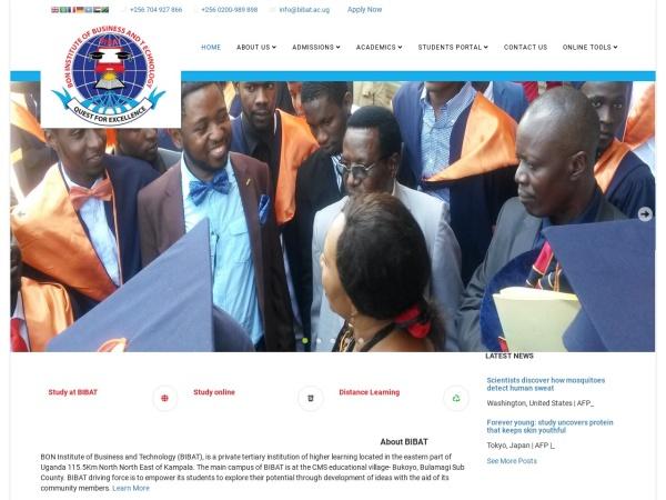 Screenshot of www.bibat.ac.ug