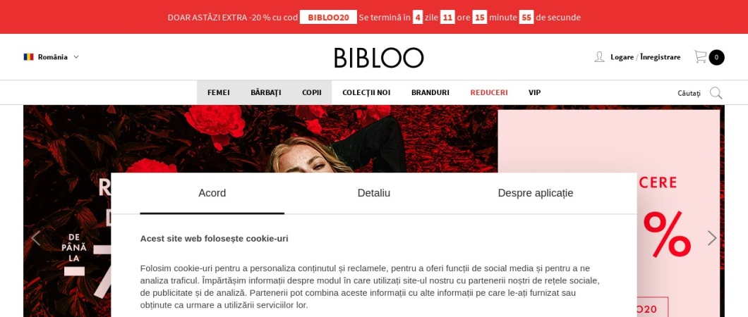 Screenshot of www.bibloo.ro