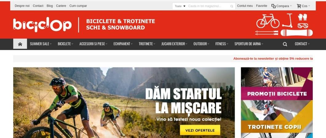 Screenshot of www.biciclop.eu