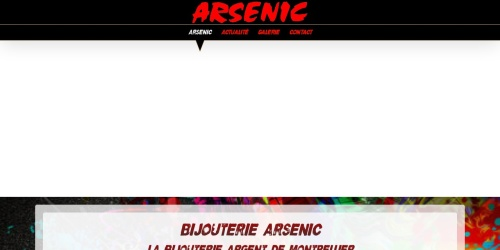 Screenshot of www.bijouterie-arsenic.com