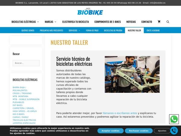 Captura de pantalla de www.biobike.es