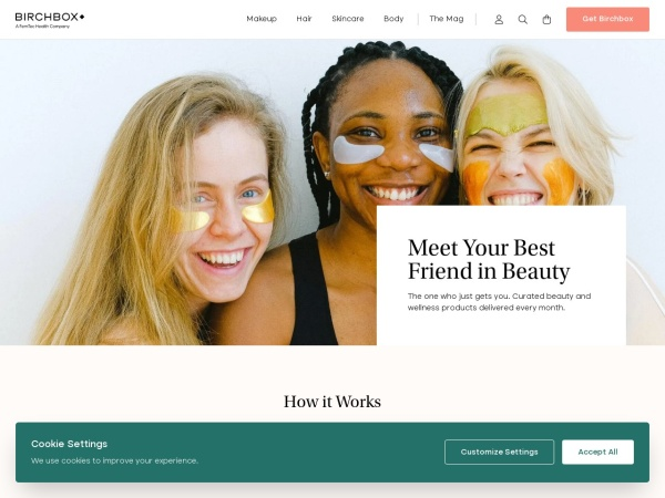 Screenshot of www.birchbox.com