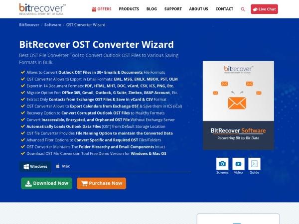 Screenshot von www.bitrecover.com