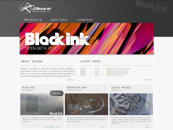 Screenshot of www.bleank.com