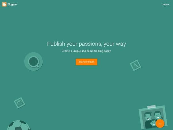 Blogger.com - あなただけの素敵なブログを作りましょう。簡単、しかも無料です。