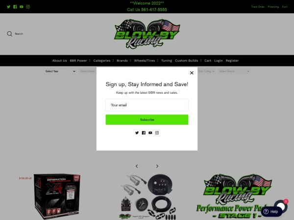 Screenshot of www.blowbyracing.com
