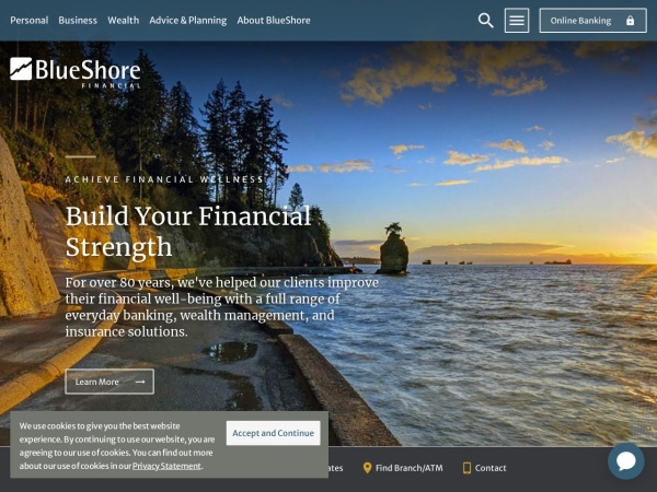 Screenshot of www.blueshorefinancial.com