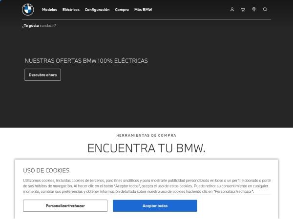 Captura de pantalla de www.bmw.es