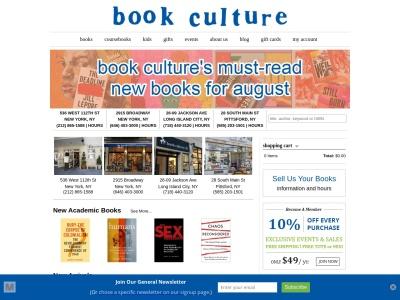 Screenshot of www.bookculture.com
