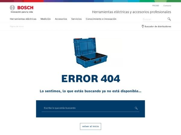 Captura de pantalla de www.bosch-professional.com