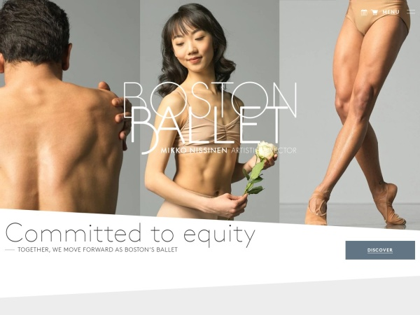 Screenshot of www.bostonballet.org