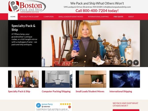 Screenshot of www.bostonpackandship.com