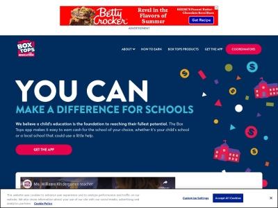 Screenshot of www.boxtops4education.com