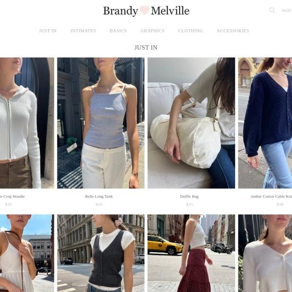 Screenshot of www.brandymelvilleusa.com