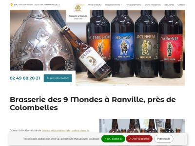 BRASSERIE DES 9 MONDES, entreprise de fabrication de bières artisanales à Ranville