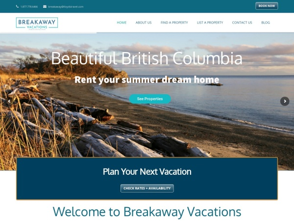Screenshot of www.breakawayvacations.com