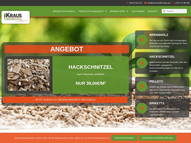 Screenshot von www.brennstoffe-kraus.de