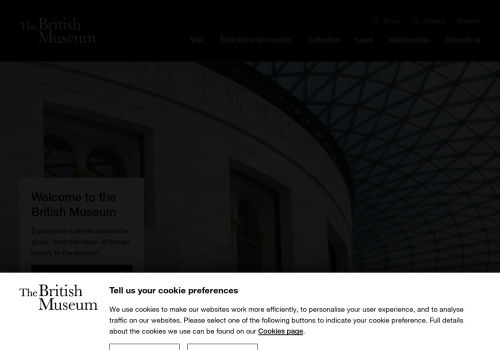 Screenshot of www.britishmuseum.org