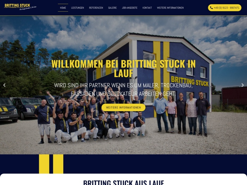 Screenshot of www.britting-stuck.de
