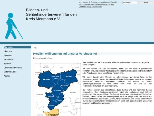 Screenshot von www.bsvkme.de