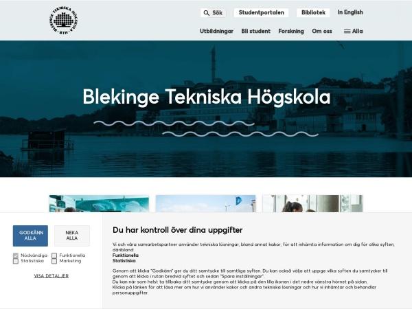 Screenshot of www.bth.se