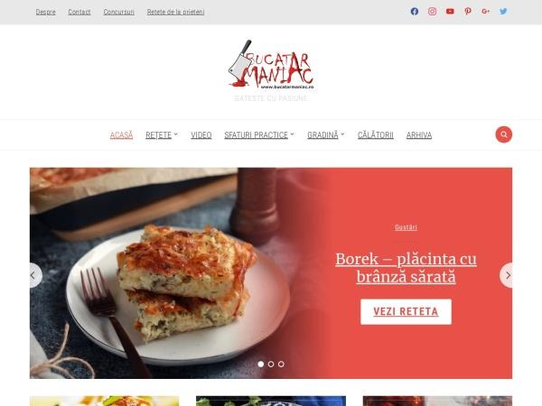 Screenshot of www.bucatarmaniac.ro