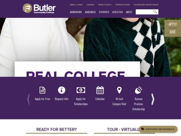 Screenshot of www.butlercc.edu