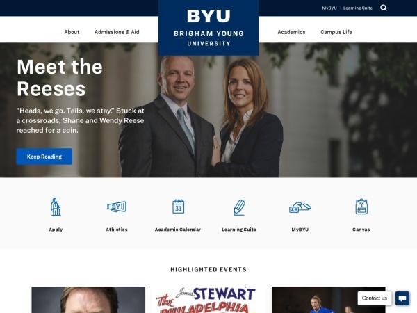 Screenshot of www.byu.edu