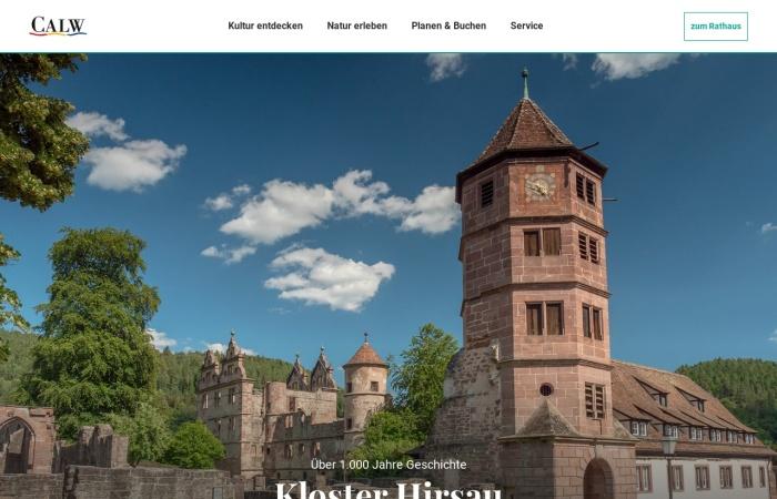 Screenshot von www.calw.de