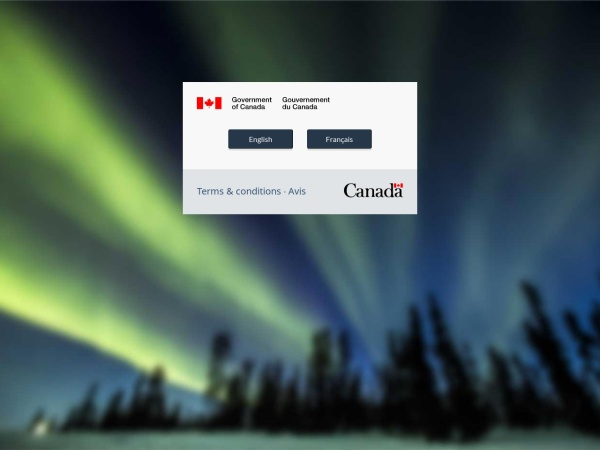 Screenshot of www.canada.ca