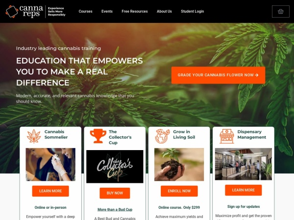 Screenshot of www.cannareps.ca