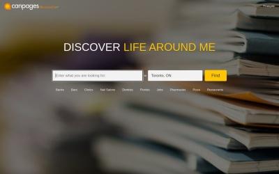 Screenshot of www.canpages.ca