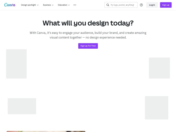 Screenshot of www.canva.com