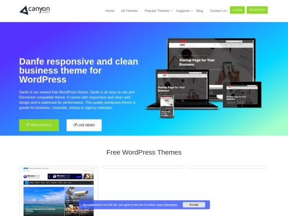 Homepage di Canyon Themes