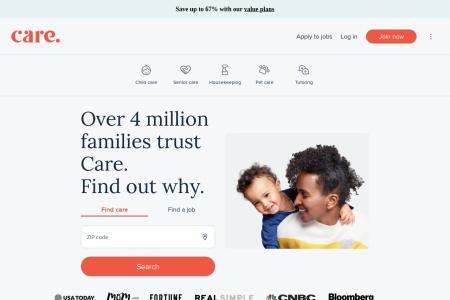 Screenshot of www.care.com