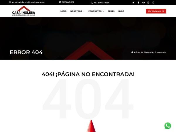 Captura de pantalla de www.casainglesa.co
