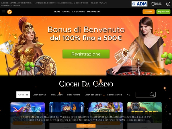 Screenshot of www.casino.com