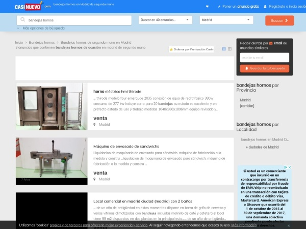 Captura de pantalla de www.casinuevo.com