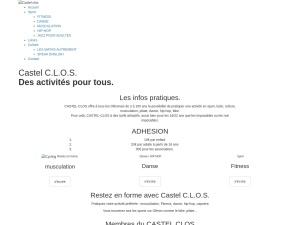 Castel-clos : musculation, Fitness, dance, bike, pilate, cours d'anglais ou de mathématiques pour tous à des prix attractifs