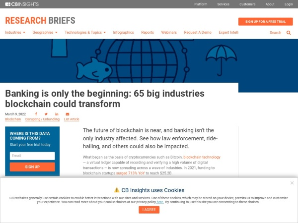 Screenshot of www.cbinsights.com