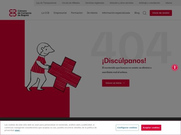 Captura de pantalla de www.ccb.org.co