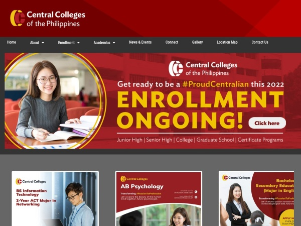 Screenshot of www.ccp.edu.ph