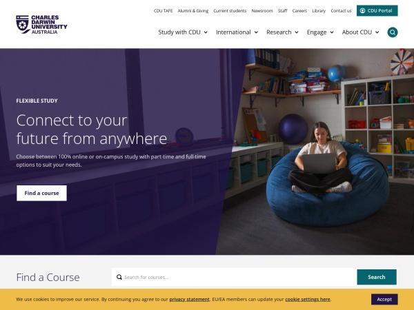 Screenshot of www.cdu.edu.au