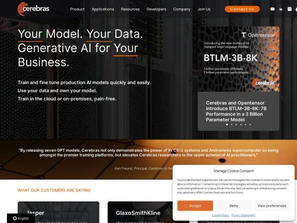 Screenshot of www.cerebras.net