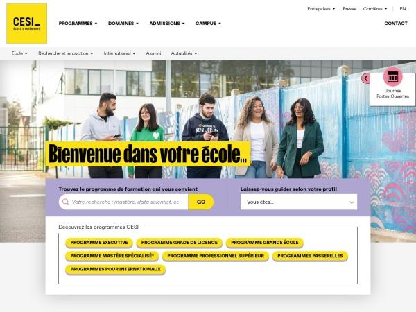 Screenshot of www.cesi.fr