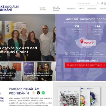Screenshot of www.ceske-socialni-podnikani.cz